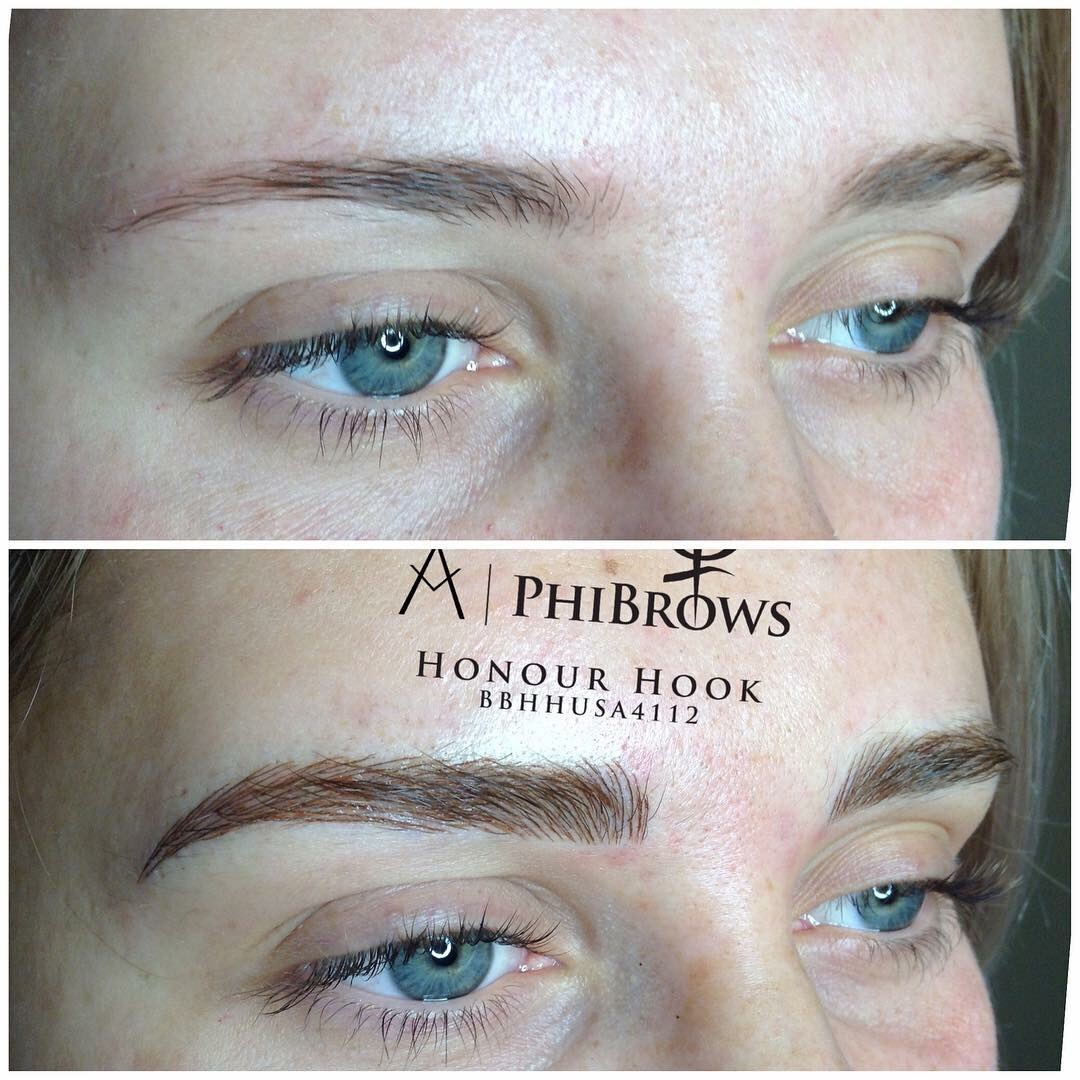 BrowTR before and after micorblading